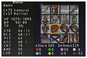 FFXI Samurai Equipment