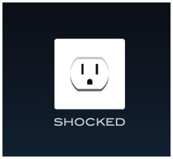 Shocked, Logo
