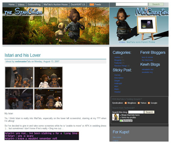 Maiev's Blog, the StarOnion, Fenrir, FFXI