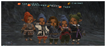 Group Piccture with the TaruTaru Girls, Sakurakun, Destroyplanets, Maiev, Tazo and Ciermel, FFXI of Fenrir