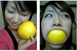 Taiwanese Girl with Big Mouth, Lemon, Humor