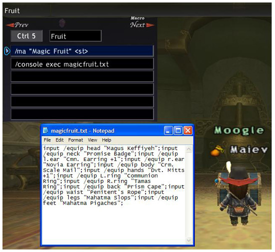 the StarOnion – FFXI Fenrir to FFXIV Excalibur | Windower Macro
