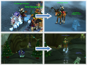 WoW Raindeer Mounts, Maiev, Fenrir