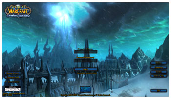 World of Warcraft, Wraith of the Lich King Login-Page