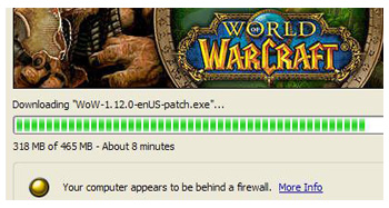 WoW Downloading Client, Windows XP