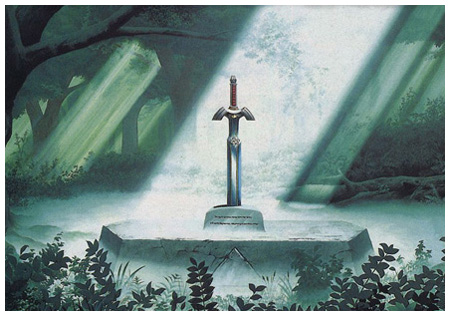 Zelda DS, Pulling the Sword from the Forest