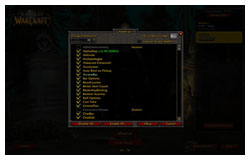 World of Warcraft's Addon Screen, FFXI to WoW Comparison